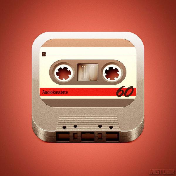 Tape #icon #app #cassette