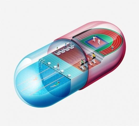 Galileu II - mediainvia #illustration #excercise #sports #pill