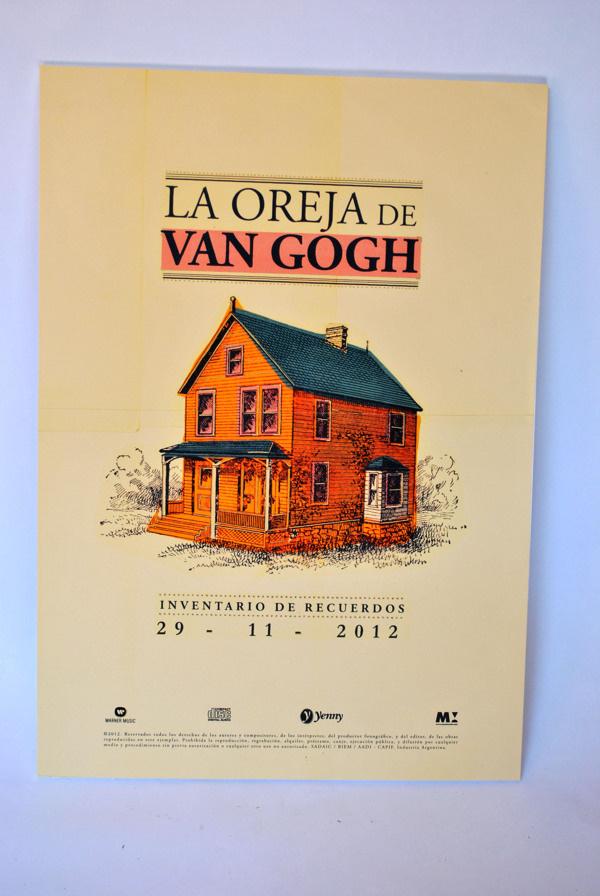 La Oreja de Van Gogh. edicion de lujo http://www.behance.net/gallery/La-Oreja-de-Van-Gogh-edicion-de-lujo/6118909 #vintage #book #poster #typography