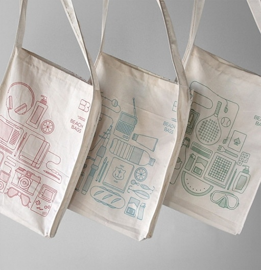 Beach Bags Atipus : Lovely Package . Curating the very best packaging design.