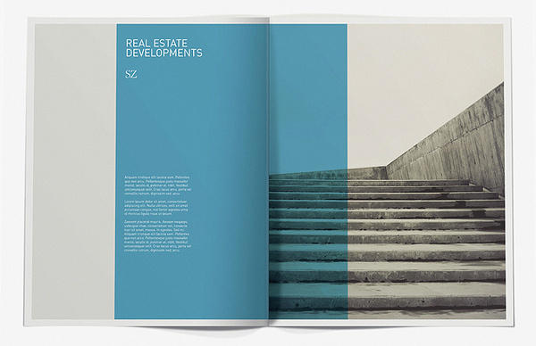 SZ Developments Brochure on the Behance Network #layout #minimal #typography