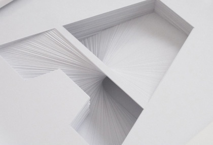 Indextwo | Paper Typography #sculpture #paper