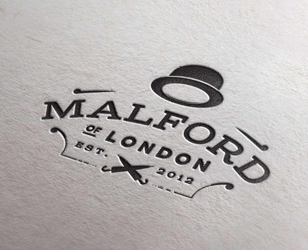 Letter Press Mock #logo #design #graphic #retro
