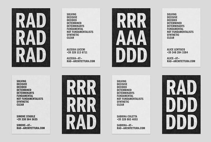 RAD by Studio Mjölk #graphic design #black and white #print