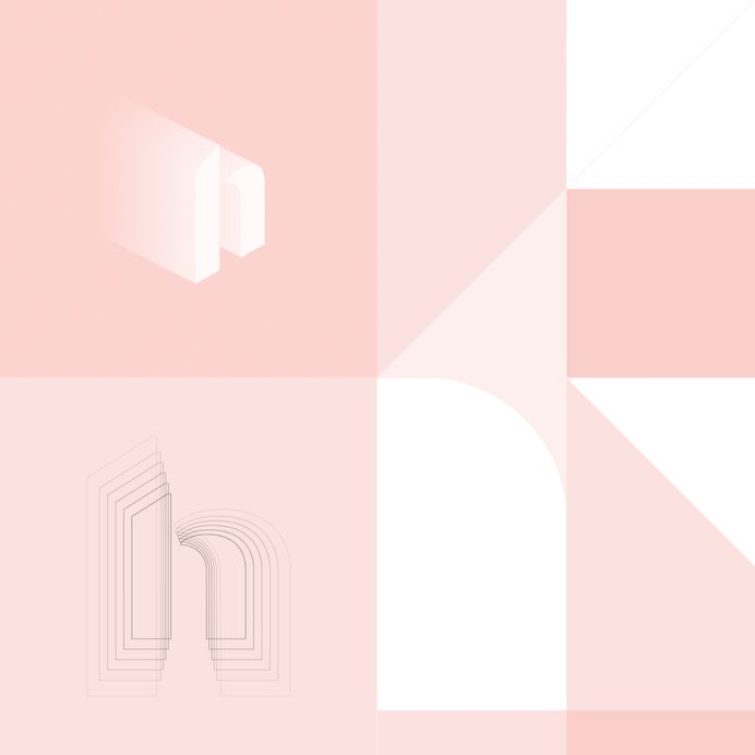Hutch Interior Design App Logotype Wordmark Re-Design on Behance
