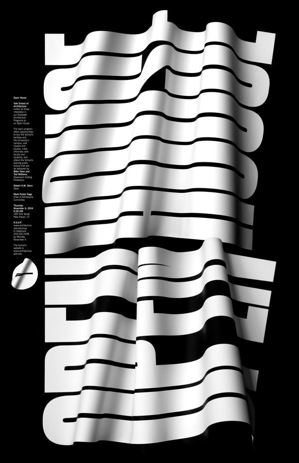 #openhouse #graphicdesign #type #typography #black #white