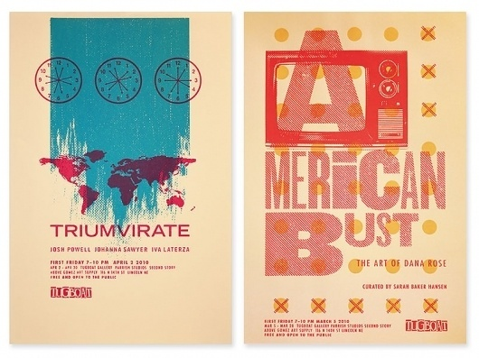 tugboat gallery : justin kemerling, designer #design #screen #illustration #printing #poster #typography