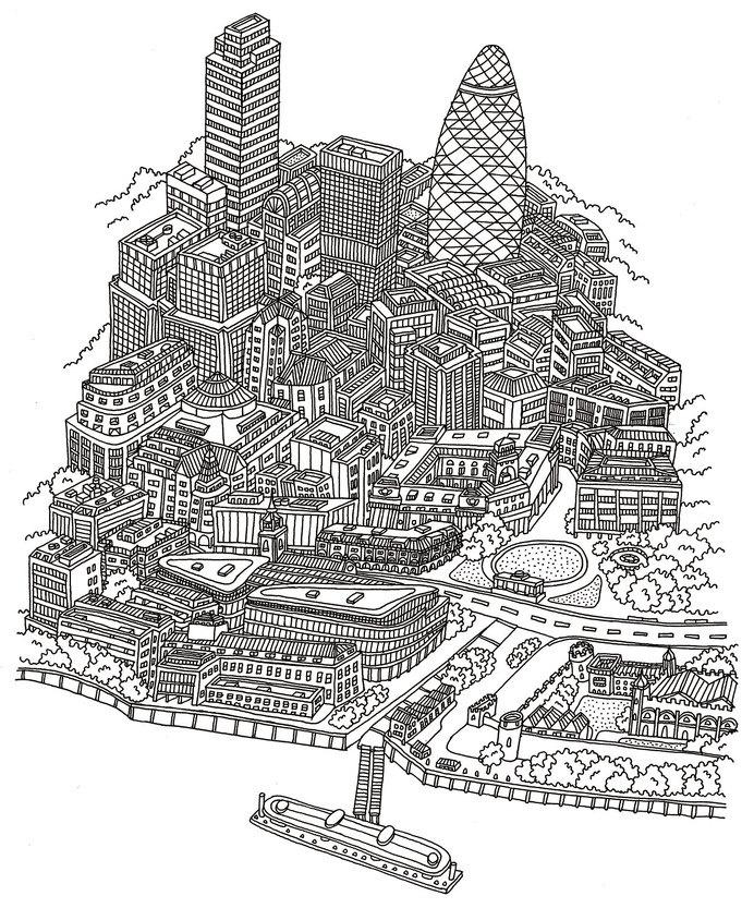 Andrew joyce illustration #illustration #lines #black and white