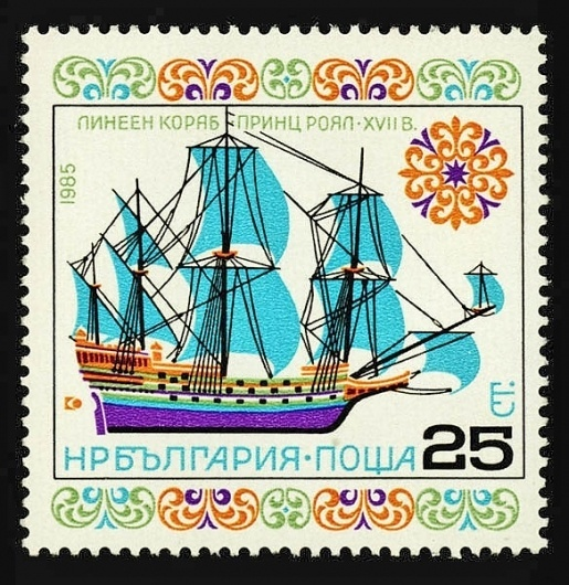Applied graphics by Stefan Kanchev #ship #stamp #design #graphic