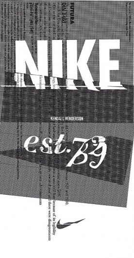 Nike Design Intern Showcase. #infographics #nike #kendall #henderson