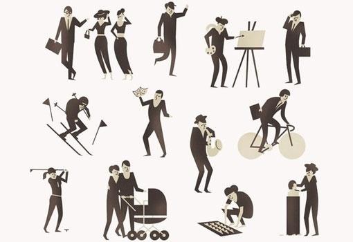 design work life » cataloging inspiration daily #illustration #people