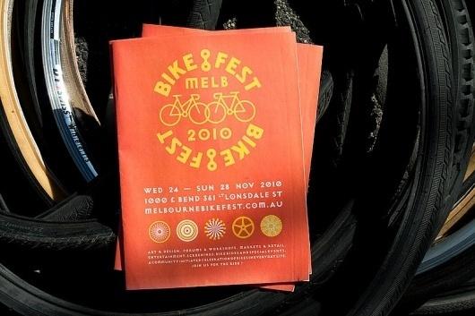 Melbourne BikeFest | SouthSouthWest #bicycle #branding #publication #identity #bike