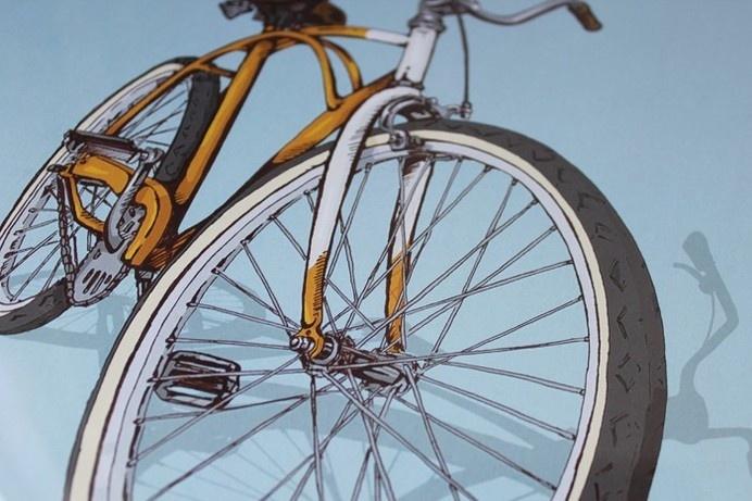Studio Epitaph Shop - Bicycle Print Two - Beach #bicycle #cycle #cruiser #print #close #illustration #up #bike #beach