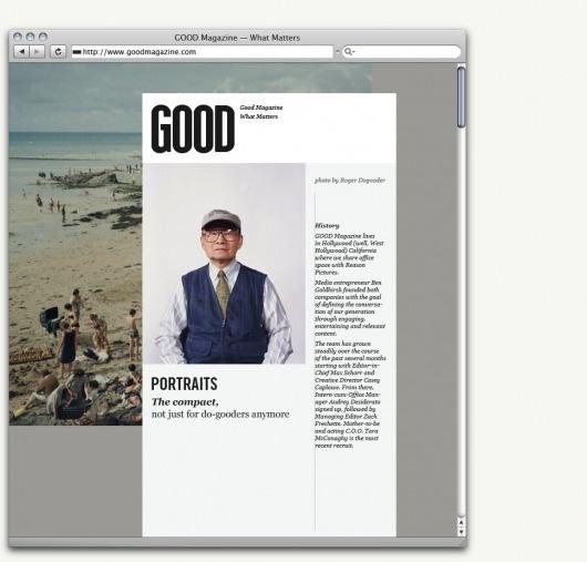 GOOD Brand — Work — AREA 17 #layout #design #web