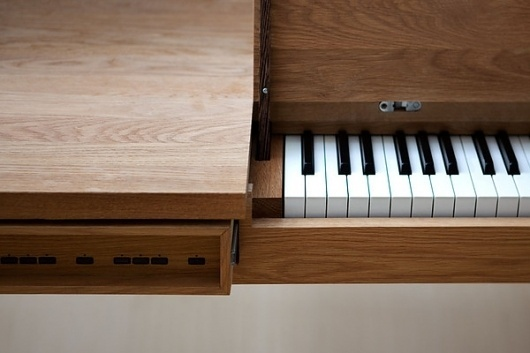 Georg Bohle Piano Table on the Behance Network #wood #furniture #table #piano