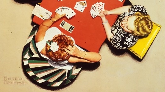 It's Nice That : Article : Norman Rockwell #bright #rockwell #painting #cards #norman