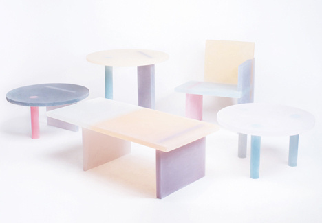 Haze Series by Wonmin Park #colored #furniture #resin