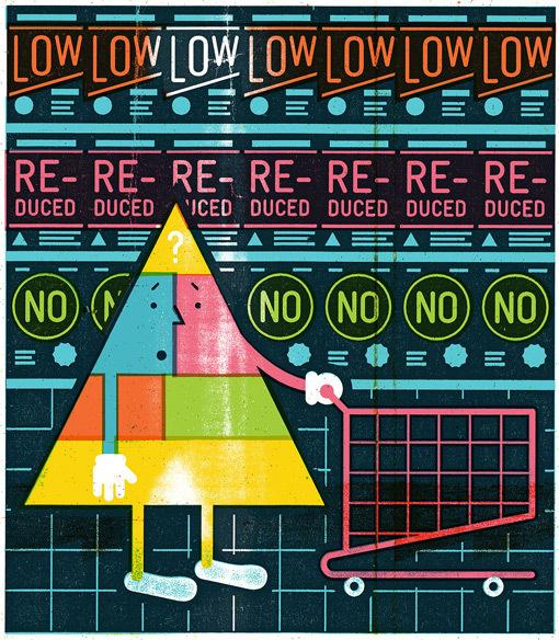 http://www.designworklife.com/wp content/uploads/2013/01/mikeyburton_foodpyramid_02.jpg #illustration #food #magazine