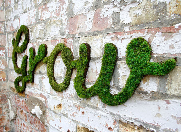 anna garforth moss graffiti designboom #graffiti #moss #typography