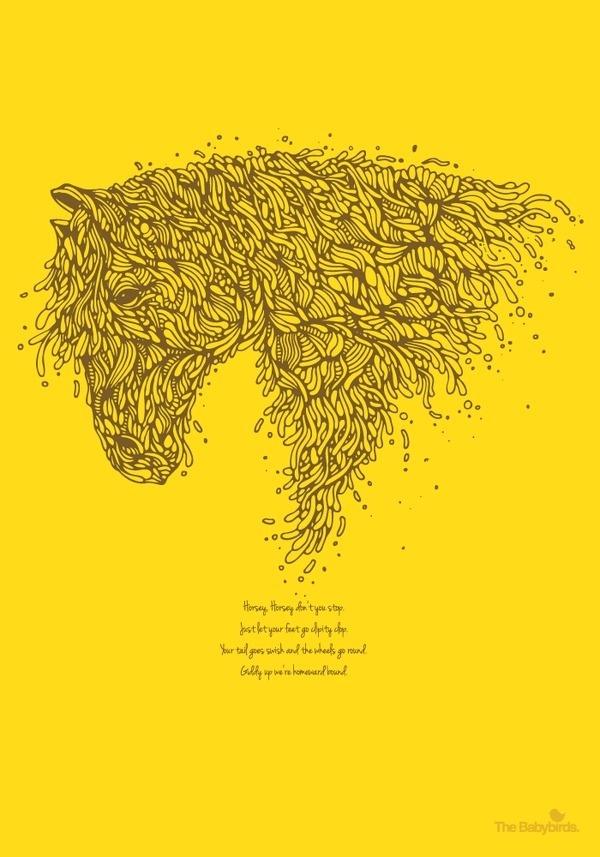 horsey01 #horse #drawing #animal #ilustration #organic