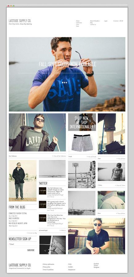 Latitude Supply Co. #design #website #fashion #layout #web