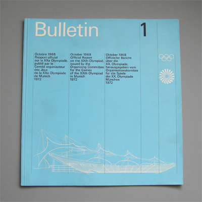 Otl Aicher 1972 Munich Olympics Bulletin #print