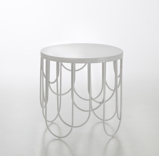 Sam Baron for La Redoute « SoFiliumm #design #furniture #white #interior #steel #side table