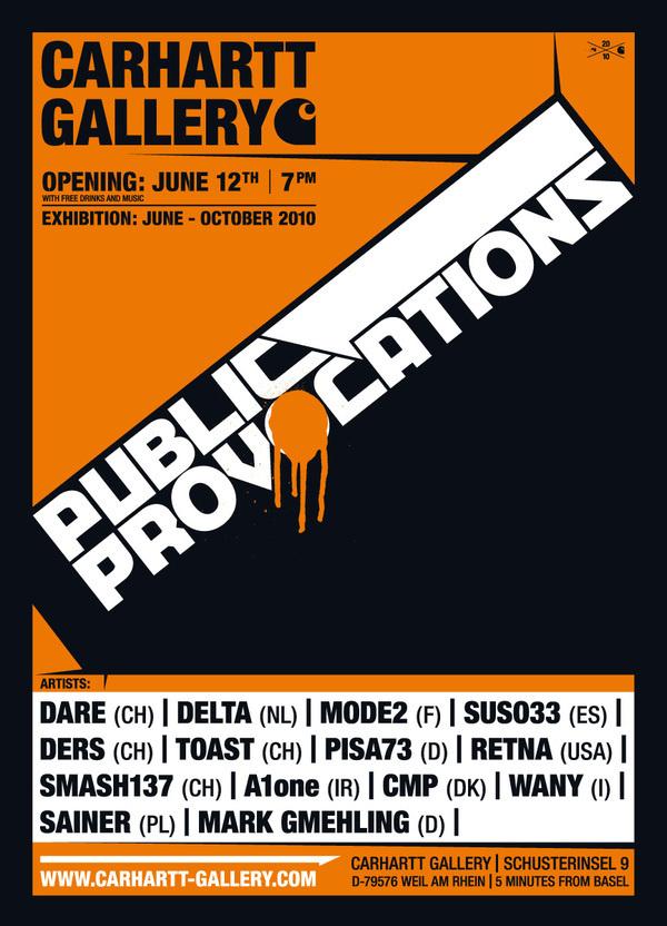 CARHARTT GALLERY EXHIBITION #print #poster