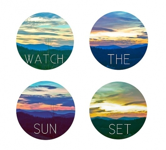 Watch the Sun Set on the Behance Network #design #graphic #mountains