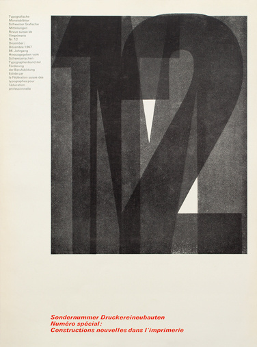Cover from 1967 Typographische Monatsblätter issue 12 #grids #design #cover #horst #hohl #typography