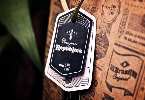 Cervejaria República on Behance #clothing #tag #label