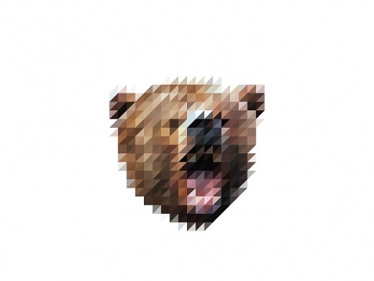Victor van Gaasbeek • Graphic designer • Illustrator • The Sliced Pixel Project #design #graphic #pixel #illustration #bear