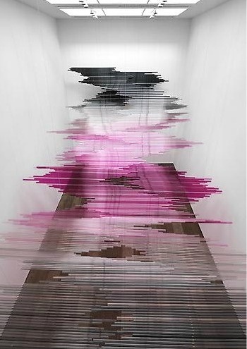 Teresita Fernández Night Writing (Installation View), Lehmann Maupin Gallery #art