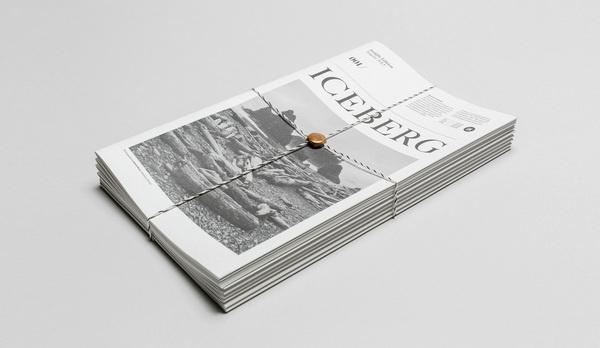 The Iceberg #zine #print #grid #spread #type #layout #magazine