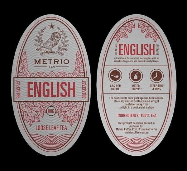 Metrio Tea on the Behance Network #packaging #design #graphic #label
