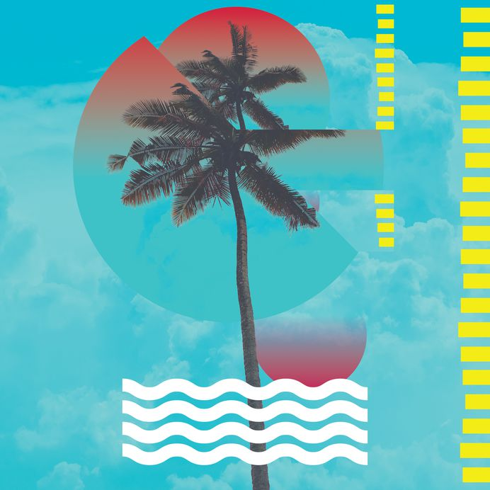 The endless summer series [personal work] on Behance #palm #poster #blue #california