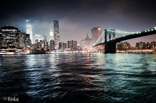 500px / Photo #water #cityscape #city #night #york #bridge #skyline #new