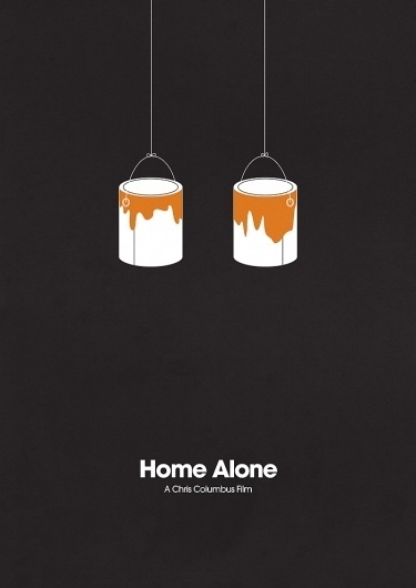 ShootTheGlass — Home Alone #home #paint #minimal #posters #alone #mov #movies