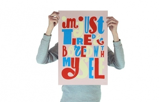 Tired and Bored/Parra   Productions   Toykyo #type #handdrawn #poster