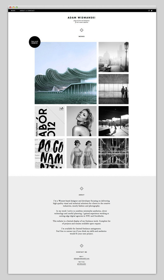 Adam Widmanski (amazing design) via http://83oranges.com #website #layout #design #web