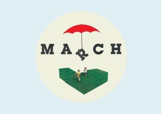 March Desktop Wallpaper collage | Able Parris #kids #umbrella #grass #march