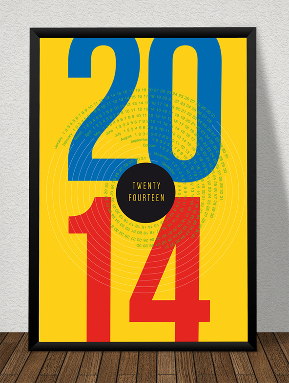 FOR FREE DOWNLOAD! Typo Poster, Calender 2014, Format DIN A2. #calender #goodies #free #2014 #poster #for #download #typo #typography