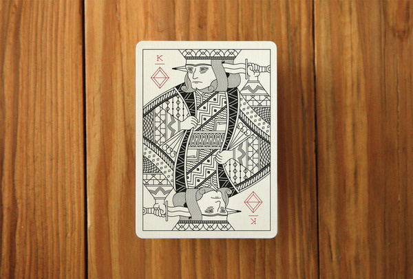 A mock up of a King card. The King of Diamonds. #card
