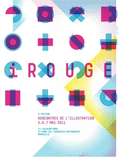 Agenda / Les rencontres de l'illustration | etapes.com #type #french #geometric
