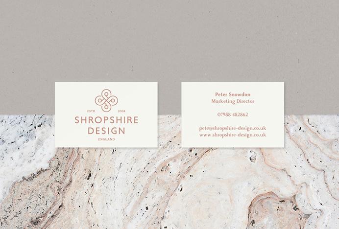 Shropshire Design by Alan Cheetham #graphic design #print #business card