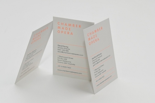 Sweet Creative | Stationery | Chamber Made Opera #business #card #design #graphic #identity #stationery #logo