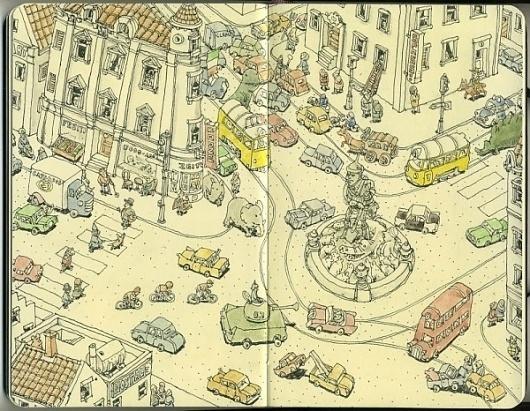 Moleskine Sketches by Mattias Adolfsson   Best Bookmarks #moleskine #sketch