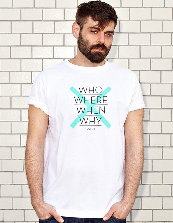 NATRI - CROSS TYPE - white t-shirt - men: who, where, when, why - whatever #modern #cross #print #design #shirt #minimal #fashion #type #typography