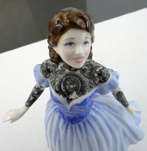 """Jessica Harrison """"Flash"""" @ LJ Gallery, Paris: 17.jpg #tattoo #ceramic #customised"""