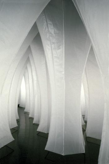 Kendall Buster Subterrain (White) #hidden #installation #columns #path #light